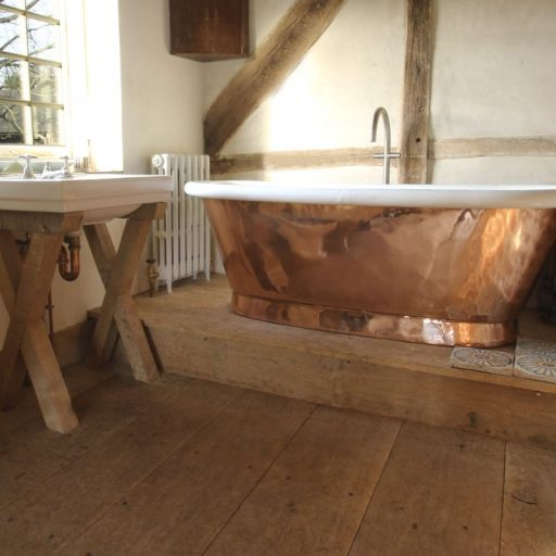 Copper Aequs Bath with Enamel Interior