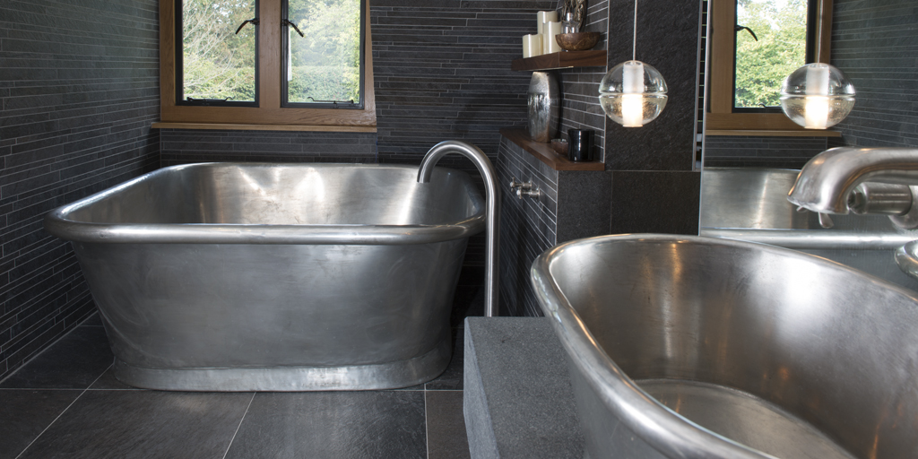 Large Tin Bath Tub