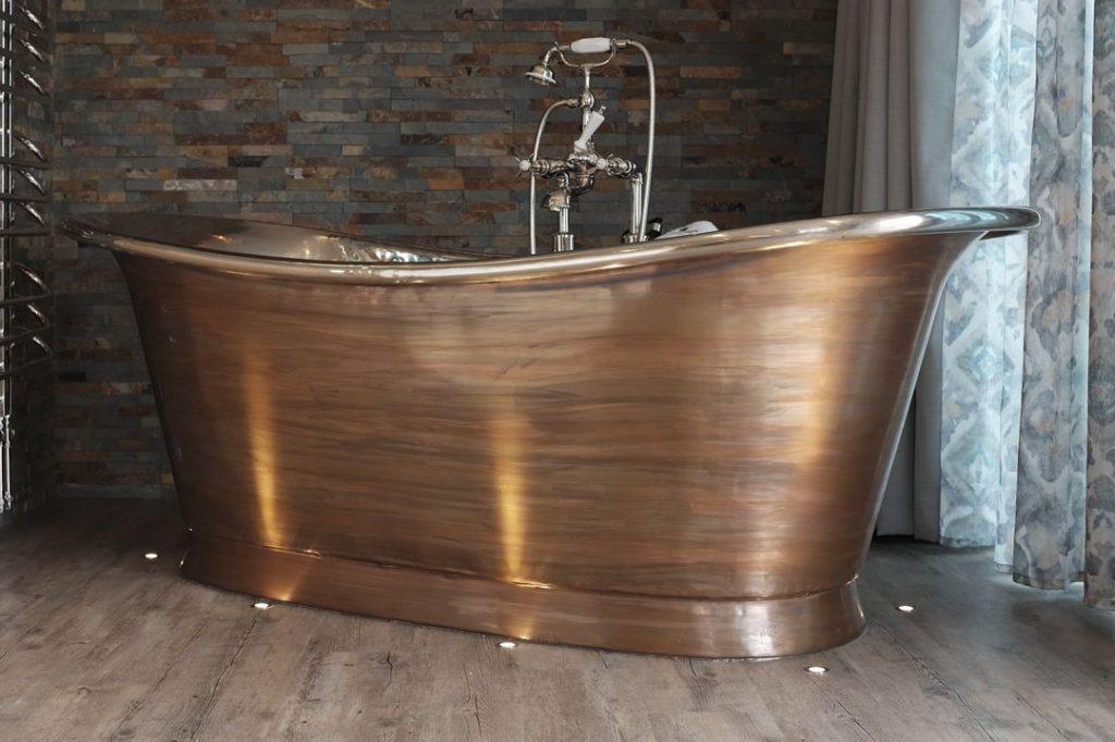 Patina Bateau Bath with Nickel Interior