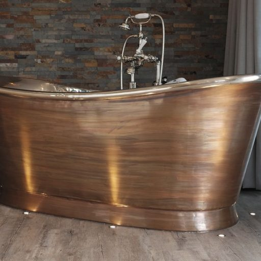 Patina Bateau Bath with Nickel Interior
