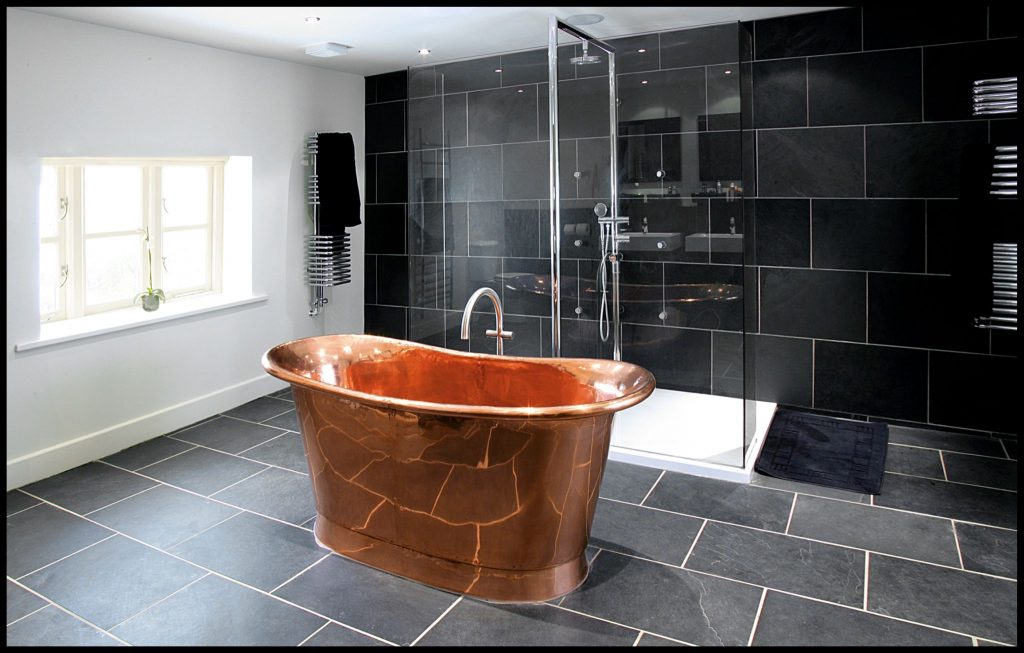 Bateau Bath William Holland Copper Brass Nickel And Enamel Baths