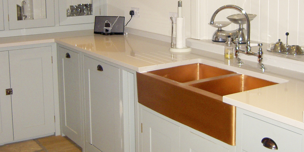 Hand made copper kitchen sink
