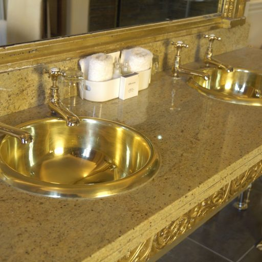 Brass Curva Basin with Brass Interior