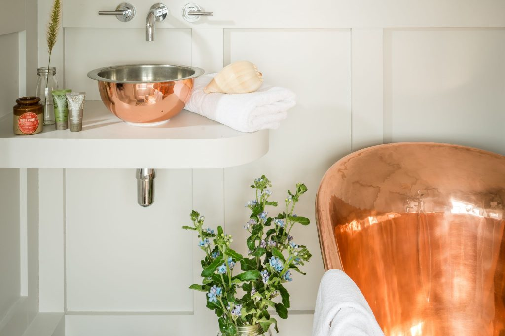 Copper Gyrus Basin with Tin Interior