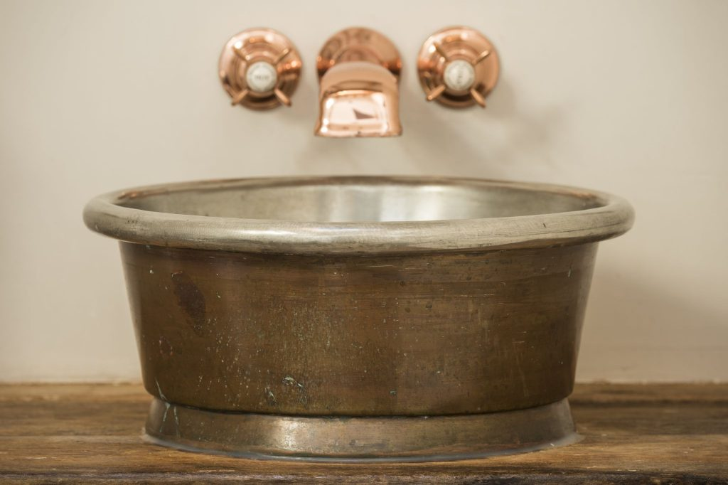 Patina Rotundus Basin with Brushed Nickel Interior
