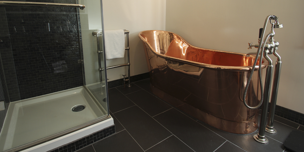 Copper Roll Top Slipper Bath