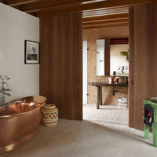 Copper Bateau Bath