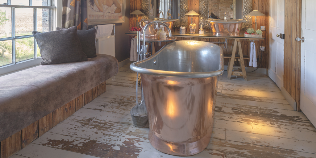 Copper Bath with tin interior