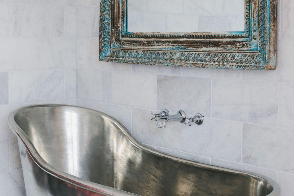 Tin Slipper Bath