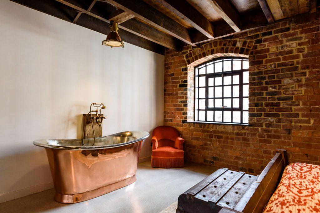 Polished Copper Bath