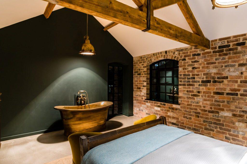 Aged Brass Bath